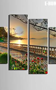 Landschaft Leinwand drucken Vier Panele Fertig zum Aufhängen , Vertikal