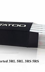 ITATOO® 100pcs Assorted Sterilized Tattoo Needles 25 3RL 25 5RL 25 3RS 25 5RS