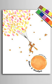 E-HOME® Personalized Fingerprint Painting Canvas Prints -Little Prince(Includes 12 Ink FColors)