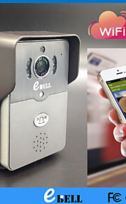 ATZ E-Bell® Full Duplex Audio WiFi Doorbell Camera HD IP Video Door Phone Support Max. 64GB TF Card and PIR