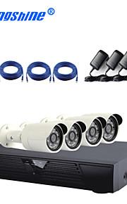 4-kanals IP-kamera kit