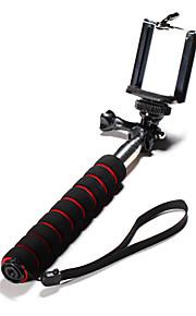 selvportræt håndholdt monopod til telefon cellphone smart telefon GoPro kamera dslr med lange tommelfinger knop