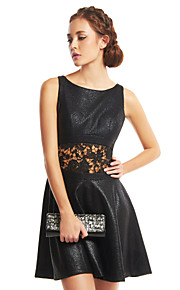 TS Couture Cocktail Party Dress - Black A-line Scoop Short/Mini Polyester
