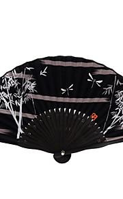 Silk Fans and parasols - 1 Piece/Set Hand Fans Garden Theme / Asian Theme / Classic Theme Black