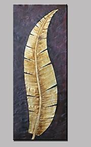 手描きの 抽象画 / 風景 / 花柄/植物のModern 1枚 キャンバス ハング塗装油絵 For ホームデコレーション