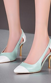 Women's Shoes Customized Materials / Leatherette Stiletto Heel Heels / Pointed Toe Heels Office & Career / DressBlue /
