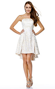 TS Couture® Prom  Cocktail Party Dress A-line Strapless Asymmetrical Lace with Lace