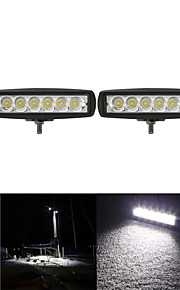 2PCS 6 Inch 18W 12V CREE LED Spot Work Light Bar Car Worklight Lamp for Boating /Hunting / Fishing / Offroad SUV