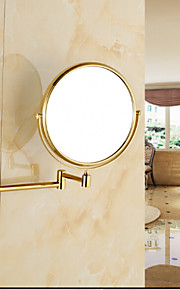Gold-Plated Wall Mounted Brass Material Mirror / Bathroom Gadget