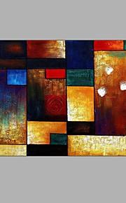 HANDMÅLAD Fritid Horisontell,Europeisk Stil En panel Kanvas Hang målad oljemålning For Hem-dekoration