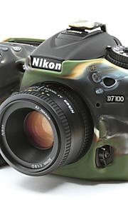 dengpin blød silikone rustning hud gummi kamera cover taske til Nikon D7100 D7200
