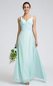 Lan Ting Ankle-length Georgette Bridesmaid Dress - Sky Blue Sheath/Column Sweetheart