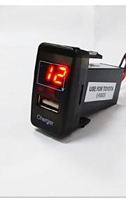 hot koop! usb met led digitale voltmeter voor Toyota auto