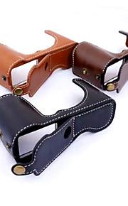 dengpin pu læder halv kamerataske taske cover base for Fujifilm X-a1 x-a2 x-m1 XA1 XA2 XM1 (assorterede farver)