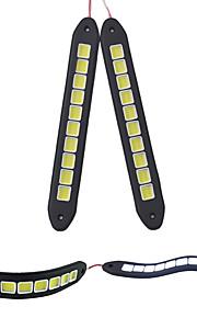 2 stuks waterdichte flexibele siliconen 10 geleid 10w cob 26cm 600lm wit licht LED-dagrijlichten (12V)