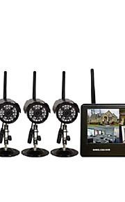 vier draadloze dvr infrarood nachtzicht 7-inch monitor super ver draadloze transmissie