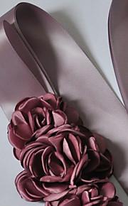 Satin Mariage / Fête/Soirée / Quotidien Ceinture-Fleur Femme 250cm Fleur