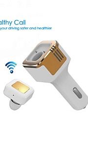tinpec 3.1a Dual USB autolader met bluetooth headset en zuurstof bar- beste draadloze headset