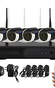 yanse® wifi ip camera nvr kit 720p CCTV-camera's videcam indoor waterproof ir bewakingscamera zelfverdediging veiligheid