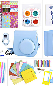 camera-accessoire bundels ingesteld voor Fujifilm instax mini 8 (mini film / mini 8 case / sticker / album etc. (blauw)