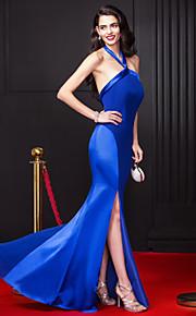 ts couture® promenade del vestito da sera convenzionale chiffon guaina / colonna Halter pavimento-lunghezza / raso stretch