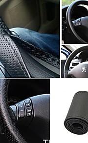 ziqiao universele anti-slip ademende pu leer diy auto auto stuurwiel beschermhoes met naalden (37 ~ 38cm)