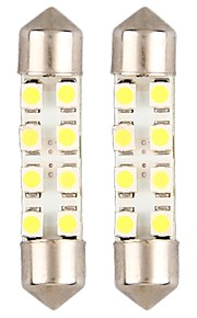 42mm 8 3528 smd leidde witte auto koepel slinger interieur lampen (2 stuks)