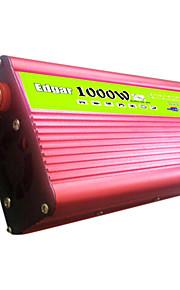 1000w vehículo inversor solar convertidor de potencia del transformador 48v a 220V con el ventilador