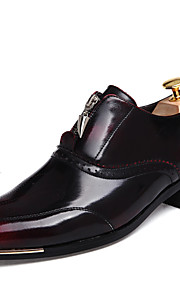 Men's Shoes Casual Leather Oxfords Black / Brown / Gold / Burgundy