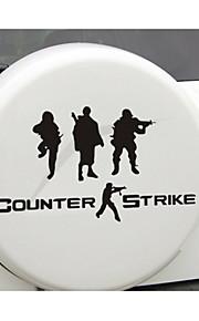 grappig cs militair counter-strike auto sticker autoraam muurstickers auto styling (1st)