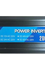2000w inversor de potencia 12V24V a 220V con USB
