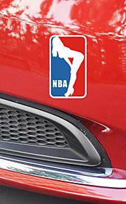 grappig het basketbal sport schoonheid auto sticker autoraam muurstickers auto styling (1st)