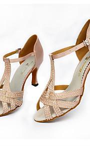 Sapatos de Dança(Preto / Rosa) -Feminino-Personalizável-Latina / Jazz / Salsa / Samba / Sapatos de Swing