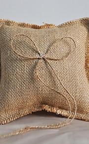 Ring Pillow Linen Beach Theme / Garden Theme / Asian Theme / Classic ThemeWithRibbons