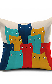 2016 New Arrival Cartoon Animal Cotton/Linen Pillow Cover Nature Modern/Contemporary Pillow Linen Cushion