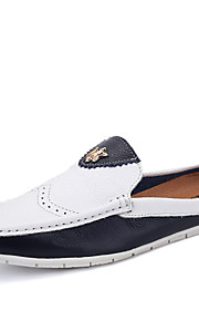 Men's Shoes Office & Career / Casual / Party & Evening Leather Oxfords / Slip-on Black / White