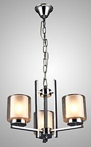 MAX60W Contemporain Style mini / Candle style Plaqué Métal Lustre Salle de séjour / Chambre à coucher / Cuisine