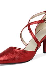 Черный / Красный / Серебристый / Золотистый-Женская обувь-Свадьба / Для офиса / На каждый день / Для вечеринки / ужина-Синтетика /