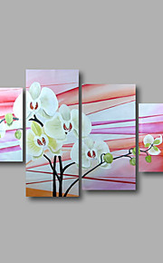 """strukket (klar til å henge) håndmalte oljemaleri 64 """"x36"""" lerret veggen kunst moderne blomster rosa magnolia"""