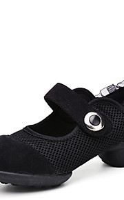 Sapatos de Dança(Preto / Vermelho) -Feminino-Não Personalizável-Tênis de Dança / Moderna