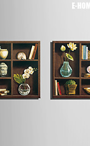 E-HOME® Stretched Canvas Art Decoration On The Shelf Decoration Painting  Set of 2