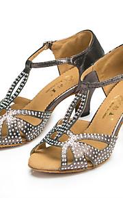 Sapatos de Dança(Preto / Azul / Cinza) -Feminino-Personalizável-Latina / Jazz / Salsa / Samba / Sapatos de Swing