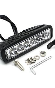 v1nf 6 tommer 18W 6leds arbejde lys bar spot kørelys off-road tåge 4wd bil SUV