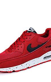 Черный / Синий / Красный-Унисекс-Для прогулок / На каждый день / Для занятий спортом-Замша / Тюль-На плоской подошве-Удобная обувь-Кеды