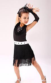Latin Dance Children's Performance Polyester Sweet Tassel(s) Dresses Dance Costumes