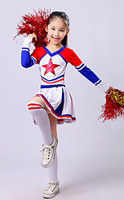 Cheerleader Costumes Children's Fashion Performance Polyester 2 Pieces Outfits