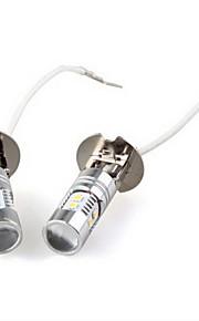2 x H3 5W bianco 2323 SMD 10 LED auto nebbia lampadina luce nuova