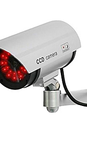 kingneo 1pc wit fake dummy dome CCTV-camera LED-licht