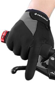 Guantes Ciclismo/Bicicleta Mujer / Hombres Dedos completos / Mitones manillarA prueba de resbalones / Mantiene abrigado / Resistencia al