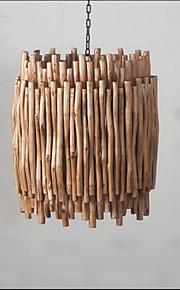 40W Maalaistyyliset Minityyli Maalaus Puu/bambu Riipus valotLiving Room / Makuuhuone / Ruokailuhuone / Työhuone/toimisto / Lastenhuone /